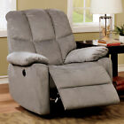 Furniture of America Folex Transitional Tufted Flannelette Power Assisted