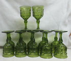 12 INDIANA GREEN CONSTELLATION WATER GOBLET STEMWARE FOOTED