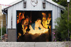 Christmas Nativity Scene Single Garage Door Cover Full Color Door Banner GD201