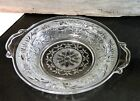 Vrg/Anchor Hocking/Sandwich/Clear Glass/Butter Dish/2-Handle Tray/Cottage Chic