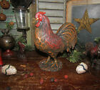 Primitive Country Farm Barn Yard Rooster Chic Resin Chicken Hen Shelf Sitter