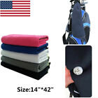 Golf Towel Waffle Black White Blue 14 x 42 Hook to Bag Value Pack US Stock