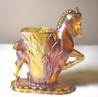 Cherished Glass Works Carol's Sure Win Carnival Glass Horse Vase by L.E. Smith