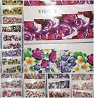 Floral Flower Rose Lilac Lotus Butterfly Water Nail Decal Stickers BUY2GET2FREE