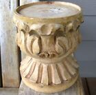 Vintage Farmhouse Hand Carved Wood Candle Holder Primitive Rustic Patina Shabby