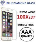 100x Wholesale Lot Tempered Glass Screen Protector for iPhone 12 11 Xs 8 7 Plus