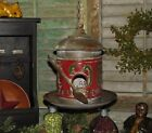Primitive Antique Vtg Style Grungy Red License Plate Hanging Bird House