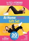 AT HOME FITNESS GIFT SET 20 DVD Set New Dancercise Kettlebell Kickboxing Yoga