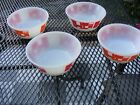 LOT OF 4 VINTAGE FIRE-KING BOWLS  ANCHOR HOCKING 1950'S BOWLS  MID CENTURY