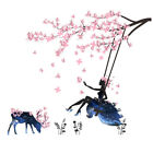 Flower Fairy Swing Wall Stickers Kids Bedroom Wall Decor Poster Mural Home US