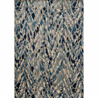 Phaedra Abstract Artic Blue Silver Rug 111 x 33