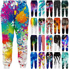 Men Women Graphrics 3D Print Trousers Sports Jogger Drawstring Baggy Sweatpants