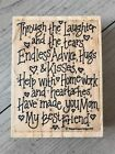 WHIPPER SNAPPER DESIGNS WOOD RUBBER STAMP MOM MY BEST FRIEND