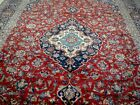 10X13 1940's GORGEOUS AUTHENTIC HAND KNOTTED 70+YRS ANTIQUE FERDOWS PERSIAN RUG