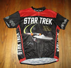 STAR TREK Retro Zip Front S S Cycling Jersey Mens Sz XL NWT