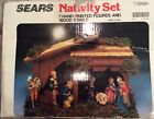 Vintage Sears Nativity Hand Painted Made In Italy 97581