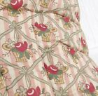 Antique French Quilt Handmade 1920s Throw Comforter Eiderdown Floral Baskets