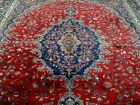 10X13 1940's AUTHENTIC HAND KNOTTED ANTQ 70+YRS SIGNED WOOL MASHADD PERSIAN RUG