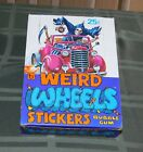 1980 Topps Weird Wheels Stickers Wax Box, 36ct Packs, Complete! ***LOOK***