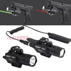 BOB CREE LED Flashligt&Red/Green Laser Sight Picatinny Rail for Rifle Pistol gun