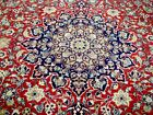 10X13 1960's EXQUISITE FINE HAND KNOTTED 200KPSI SOFT WOOL ISFAHANN PERSIAN RUG
