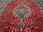 10X13 1940's SPECTACULAR AUTHENTIC HAND KNOTTED ANTIQUE WOOL MASHADD PERSIAN RUG