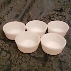 5 Vintage White Small Bowls 434 Anchor Hocking Oven and Microwave Safe