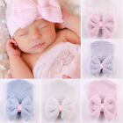 Cute Newborn Baby Girls Infant Soft Cotton Flower Hospital Cap Beanie Hat 0-6M