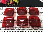 Set of 6 Anchor Hocking Royal Ruby Red