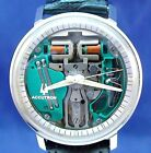 Bulova Accutron 214 Chapter Ring Spaceview SS watch with new leather strap 1970