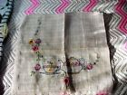 2 Pair (4 panels) Vintage Sheer Beige Embroidered Curtains Teapot