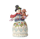 Jim Shore Christmas Snowman With Dog 3rd In Series New 2018 6002802