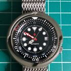 Custom Seiko Mod Shrouded Automatic Diver Watch