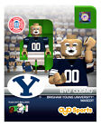 (2) BRIGHAM YOUNG BYU COUGARS COSMO MASCOT SERIES 1 & SERIES 2 OYO MINIFIGURE