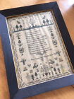 Large antique Georgian 1825 embroidery sampler by Eliza Congdon aged 7. VGC