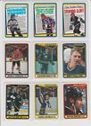 1990-91 Topps Hockey U-pick NM you pick stars RC rookie insert Hall of Fame