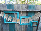 Give Thanks Burlap Banner Garland Sign Thanksgiving Handmade in USA