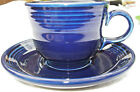 Homer Laughlin Fiesta Tea/ Coffee Cup And Saucer Cobalt Blue ~ Fiestaware EUC