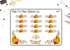 1441 S Thanksgiving Corners and Borders Planner Stickers
