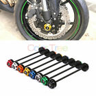 Motorcycle Axle Fork Crash Sliders Wheel Protector For Kawasaki Z750 Z800 Z1000