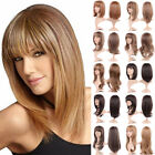 Full Hair Wig With Bangs Long Curly Straight Wavy Women Party Wigs Brown Blonde