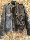 Rare Vintage Wilsons Suede and Leather Brown Bomber Jacket Distressed Mens 38