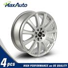 4 Pcs 17X7 Wheels 4x100 4x108 731 Hub +40 mm Silver Finish Rims New