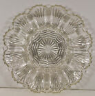 Anchor Hocking DEVILED EGG PLATE of OYSTERS Shell Pattern Pressed Glass 1950's
