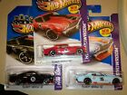 2013 Hot Wheels 70 Chevy Chevelle SS Lot Of 3 Blue Black Red Toys R Us exclus