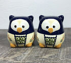 Owl Salt and Pepper Shakers Pottery Polish Style
