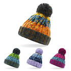 NEW CABLE KNITTED BOBBLE HAT PLAIN KIDS CHILDRENS BEANIE WINTER POM WOOLY CAP