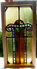 Antique Vtg Church Stained Glass Window Architectural Salvage Art Deco Arch W99