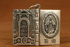 limited edition 925 Sterling Silver Carved Holy Bible Statue endant collect gif