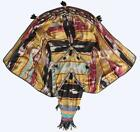 RARE UZBEK HANDMADE EMBROIDERY NATIONAL CAPE-DRESS FOR WOMEN -